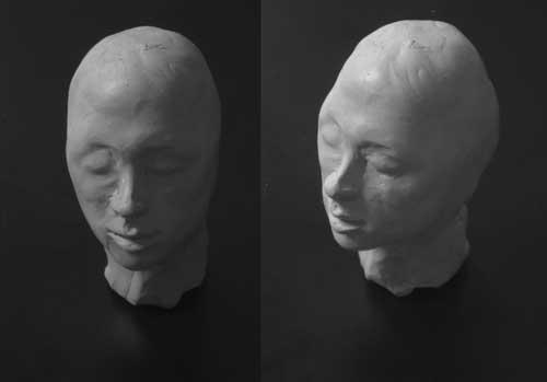 Plasticine head of Dr. Pauline